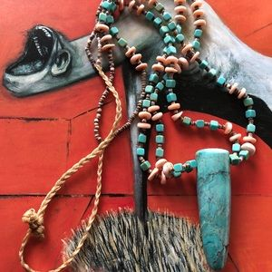 Turquoise necklace. Handmade vintage 🎁😃😌